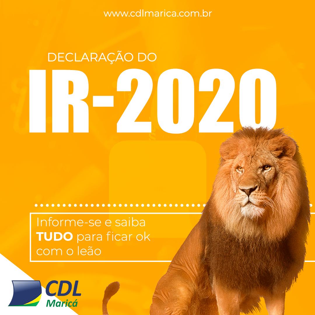 imposto renda 2020 cdl marica