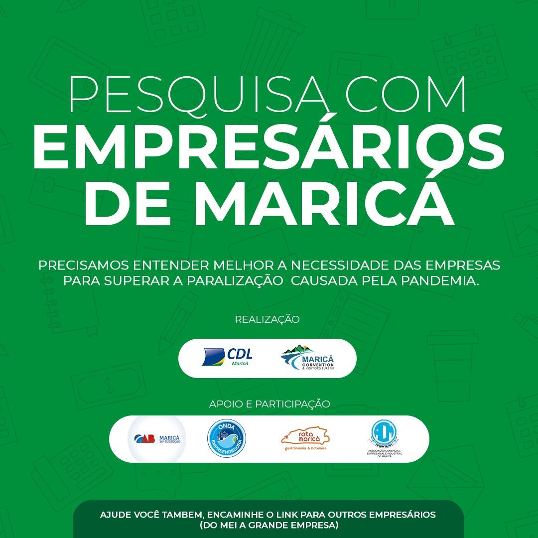 corona virus, cdl marica, crise econômica, pesquisa com empresários, maricá, COVID-19